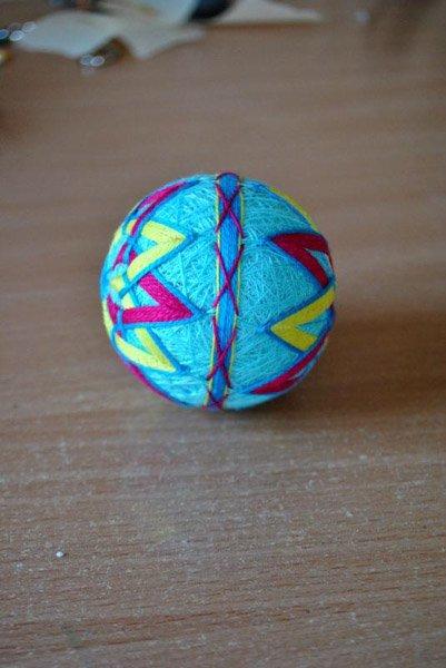 Японские шары темари мастер класс сделай сам #14