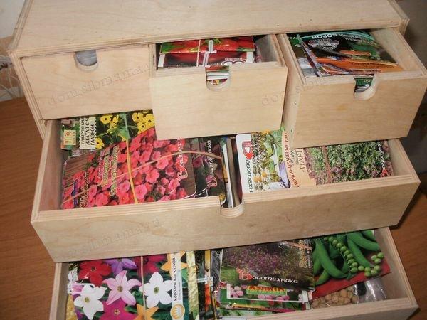семена стоит раскладывать по срокам посева