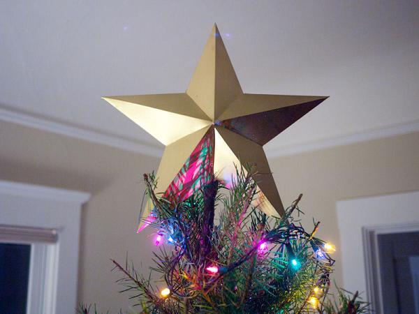 Звезду на елку своими руками сделать из бумаги