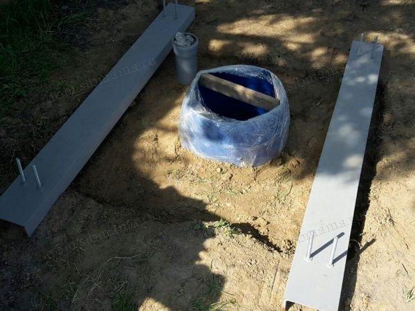 дачный туалет изготовления