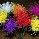 Цветы астра из гофрированной бумаги своими руками