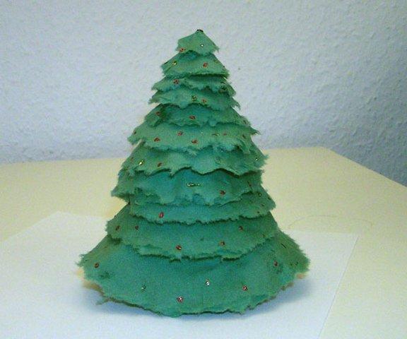 Изготовление елки из салфеток