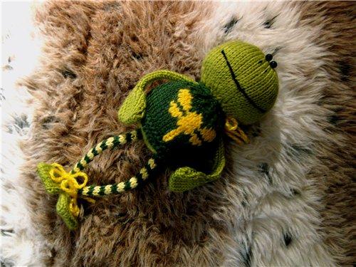 Как вязать царевну - лягушку.  Описание вязания от Светланы.