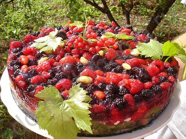 Сделать желе с ягодами для торта