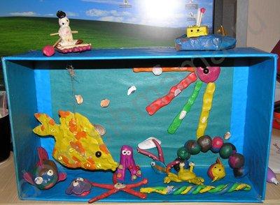 Как сделать подводный мир из пластилина 166