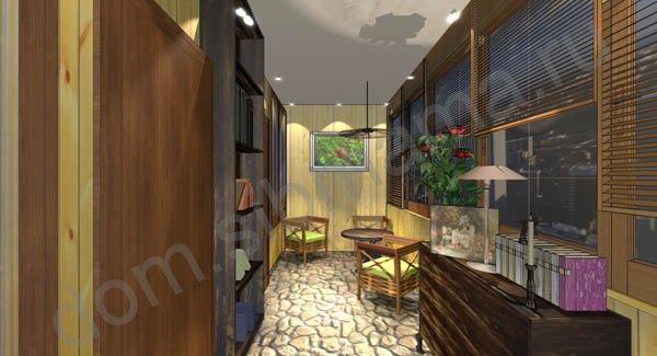 Дизайн балкона в доме серии 1-464 (трехкомнатная квартира) -.