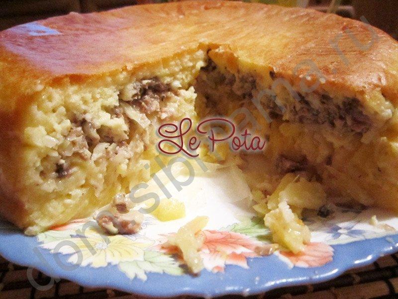 Пирог на майонезе с сайрой рецепт с