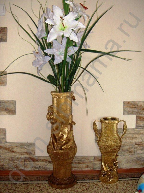 Мастер-класс по изготовлению вазы из обычного картона 84353