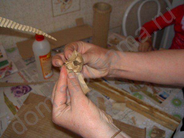 Мастер-класс по изготовлению вазы из обычного картона 31046