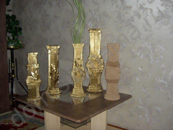 Мастер-класс по изготовлению вазы из обычного картона 23715