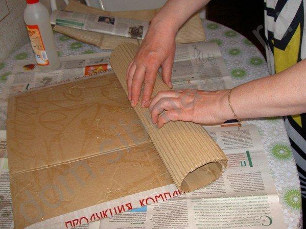 Мастер-класс по изготовлению вазы из обычного картона 69504