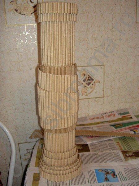 Мастер-класс по изготовлению вазы из обычного картона 54127