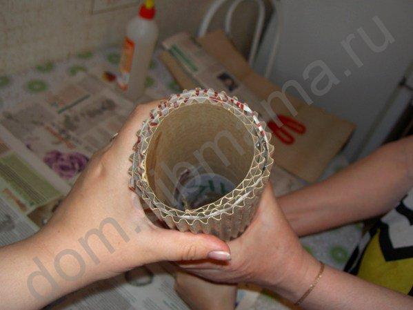 Мастер-класс по изготовлению вазы из обычного картона 14040