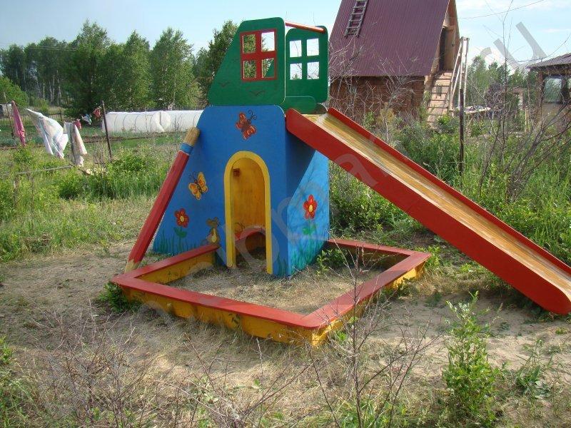 Детская площадка на даче - Дети на даче