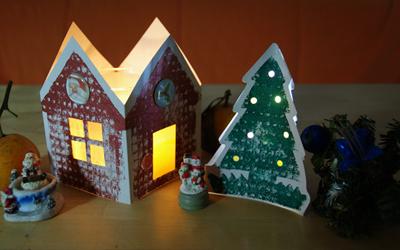 Новогодний домик игрушка своими руками
