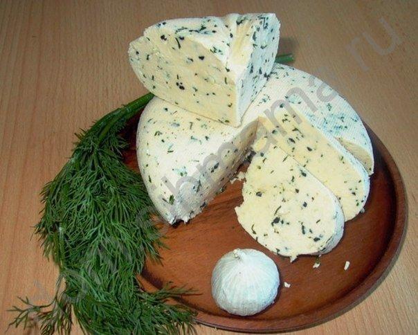 Как сделать сыр с чесноком