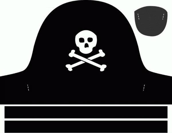 Как сделать пиратскую повязку на глаз из бумаги