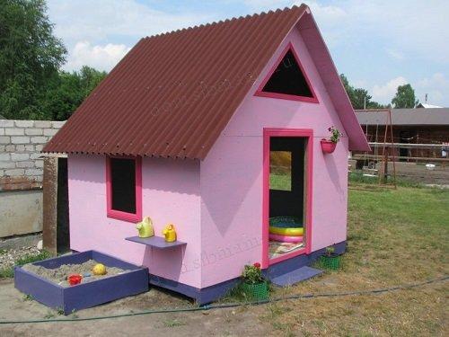 Как сделать детский домик на даче своими руками фото